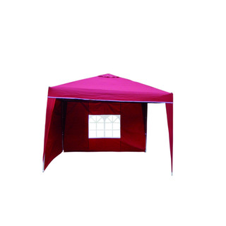Pop Up Pavillon Burgundrot 3x3m incl. 2 Seitenteilen