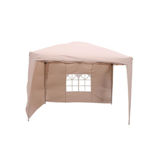 Pop Up Pavillon Beige 3x3m incl. 2 Seitenteilen